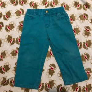 Turquoise boys jeans